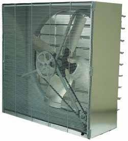 "TPI 115V 1/3 HP 1 Phase 24"" Cabinet Belt Drive Exhaust Fan with Shutters - CBT24B"