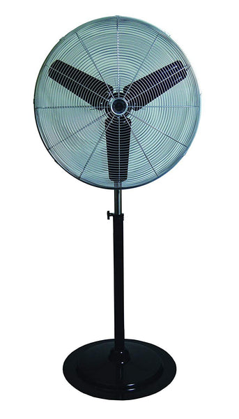 "TPI 24"" Commercial Oscillating Circulator Pedestal Fan - CACU24PO"