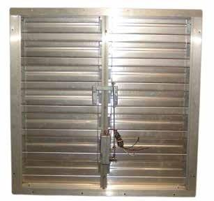 "TPI 24"" Motorized Supply Air Intake Shutter - CESM24"