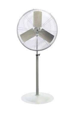 "TPI 1/3 HP 24"" Unassembled High Performance Fan w/ Pedestal Mount - UHP24P"