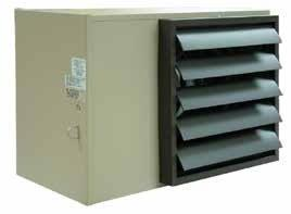 TPI 25KW 240V 1 Phase UH Series Horizontal Fan Forced Unit Heater - H1HUH25CA1