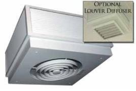 TPI 2KW 480V 3PH 3470 Series Commercial Fan Forced Surface Mounted Ceiling Heater - Y3472A1