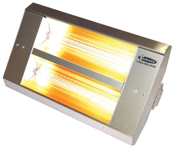 TPI 2-Lamp 3.2KW 480V 90 Symmetrical Mul-T-Mount Infrared Heater w/ Stainless Steel Housing - 22290THSS480V