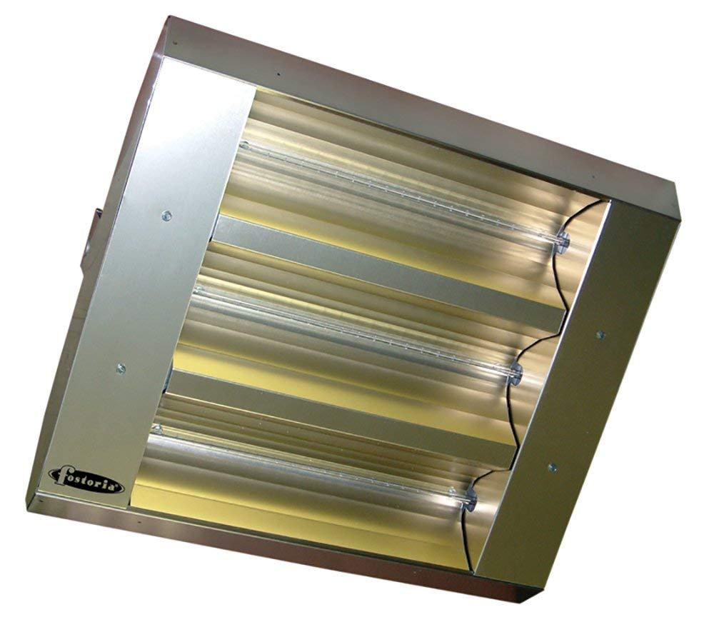 TPI 3-Lamp 7.5KW 208V 30 Symmetrical Mul-T-Mount Infrared Heater w/ Stainless Steel Housing - 34330THSS208V