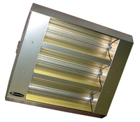 TPI 3-Lamp 7.5KW 208V 90 Symmetrical Mul-T-Mount Infrared Heater w/ Stainless Steel Housing - 34390THSS208V