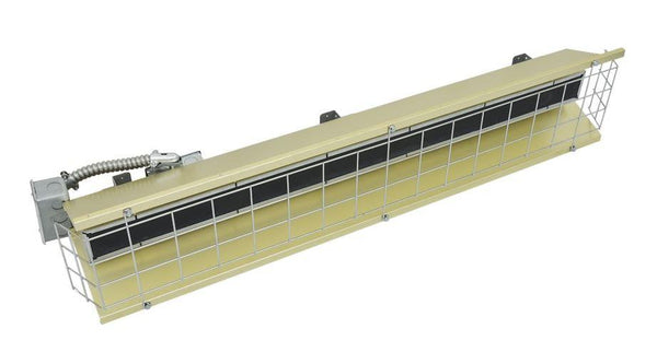 TPI 3.15 KW 600V FSS Series Heavy Duty Flat Panel Emitter Electric Overhead Infrared Heater - FSS31571