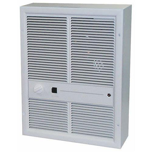 TPI 3000/2250W 240/208V 3310 Series Fan Forced Wall Heater (Ivory) - Without Summer Fan Switch - 1 Pole Thermostat - HF3315TRP