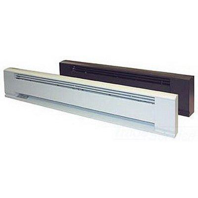 "TPI 375W 120V 24"" Arch. Baseboard Heater w/ Steel Element (Brown) - E3703024B"