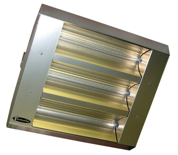 TPI 3-Lamp 4.8KW 277V 60 Symmetrical Mul-T-Mount Infrared Heater w/ Stainless Steel Housing - 22360THSS277V