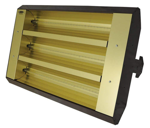 TPI 3-Lamp 7.5KW 240V 60 Symmetrical Mul-T-Mount Infrared Heater - 34360TH240V