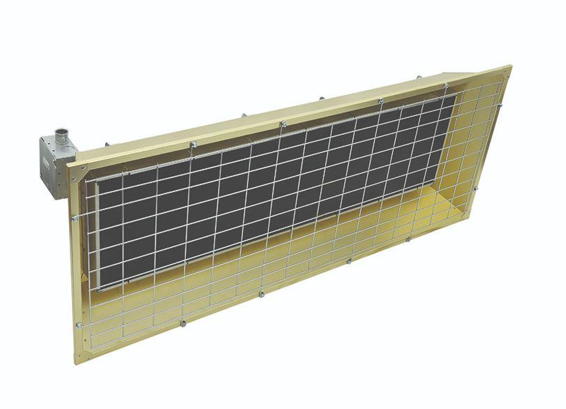 TPI 4.30 KW 208V FSS Series Heavy Duty Flat Panel Emitter Electric Overhead Infrared Heater - FSS43203