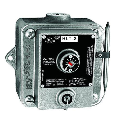 TPI 40-110 Degrees 22 Amp 125-277 VAC Aluminum Hazardous Location Single Pole Thermostat - HLT1
