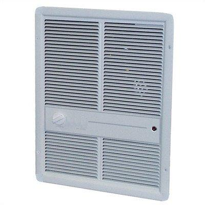 TPI 4000W 277V 3310 Series Fan Forced Wall Heater (Ivory) - Without Summer Fan Switch - 1 Pole Thermostat - G3316TRP
