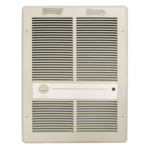 TPI 4000W 277V 3310 Series Fan Forced Wall Heater (Ivory) - Without Summer Fan Switch - 2 Pole Thermostat - G3316T2RP