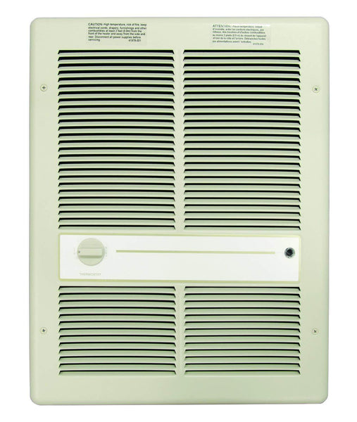 TPI 4000/3000W 240/208V 3310 Series Fan Forced Wall Heater (Ivory) - Without Summer Fan Switch - 1 Pole Thermostat - HF3316TRP