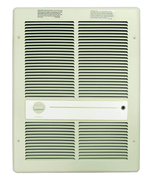 TPI 4800W 240V 3310 Series Fan Forced Wall Heater (Ivory) - Without Summer Fan Switch - 1 Pole Thermostat - H3317TRP