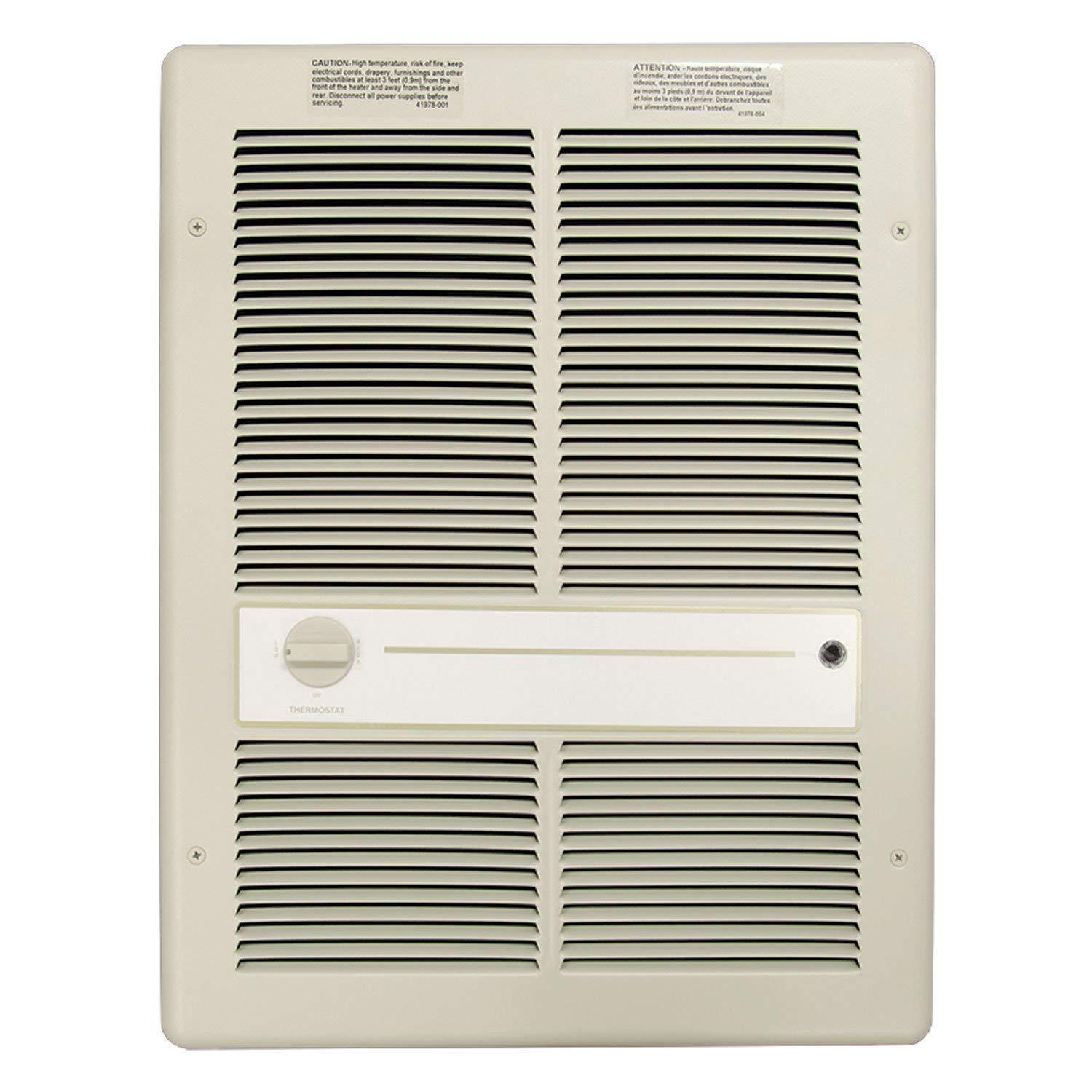 TPI 4800W 277V 3310 Series Fan Forced Wall Heater (Ivory) - Without Summer Fan Switch - 2 Pole Thermostat - G3317T2RP