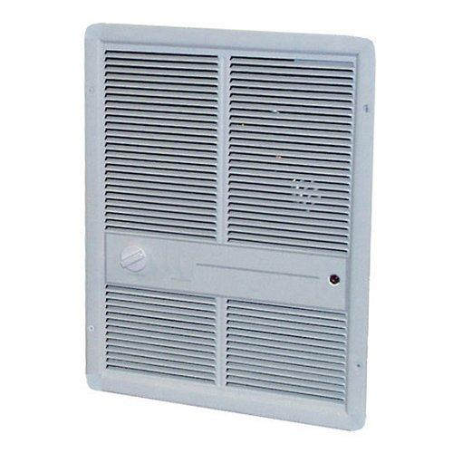 TPI 4800W 277V 3310 Series Fan Forced Wall Heater (Ivory) - Without Summer Fan Switch - 1 Pole Thermostat - G3317TRP