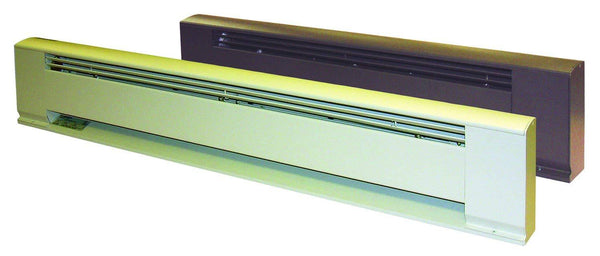 "TPI 500W 120V 28"" Arch. Baseboard Heater w/ Steel Element (Brown) - E3705028B"