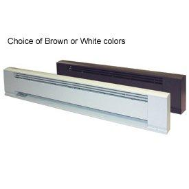 "TPI 500W 208V 28"" Arch. Baseboard Heater w/ Steel Element (Brown) - F3705028B"
