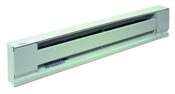 "TPI 600W 120V 36"" Baseboard Heater w/ Steel Element (Ivory) - E2906036S"