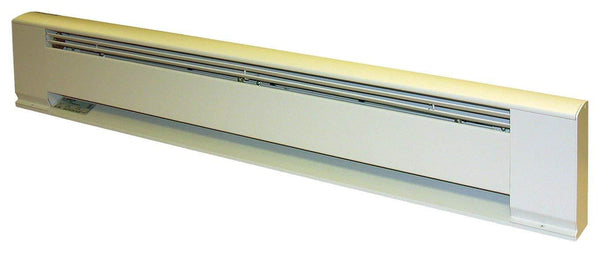 "TPI 600/450W 277/240V 36"" Arch. Baseboard Heater w/ Steel Element (White) - G3706036"