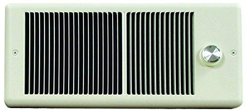 TPI 750W 120V 4300 Series Low Profile Fan Forced Wall Heater - No Pole Thermostat- Ivory w/ Box - E4375RP