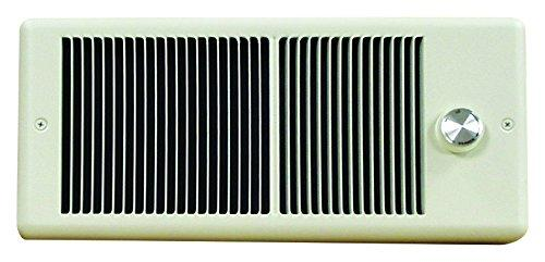 TPI 750/562W 240/208V 4300 Series Low Profile Fan Forced Wall Heater - 2 Pole Thermostat - White w/ Box - HF4375T2RPW