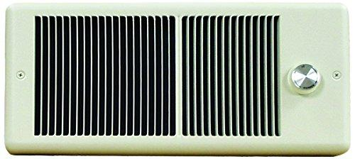 TPI 750/562W 240/208V 4300 Series Low Profile Fan Forced Wall Heater - 1 Pole Thermostat - Ivory w/ Box - HF4375TRP
