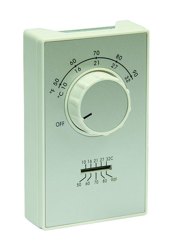 TPI ET9 Series DPST Line Voltage Heat Only Thermostat - AET9DWTS