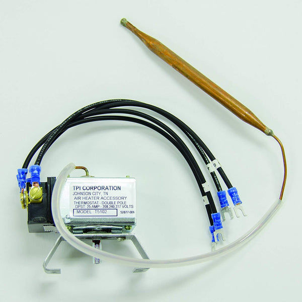 TPI Double Pole Single Throw (DPST) Line Voltage Thermostat for 5100 Series Heater Units - T5102