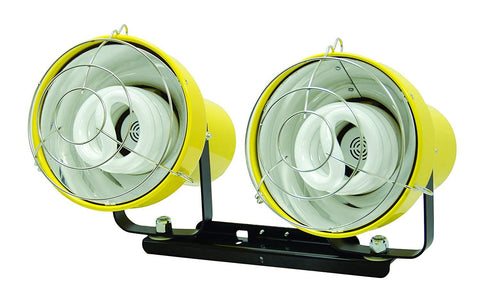 TPI Two Fluorescent Lightheads with Mounting Bracket - FL2