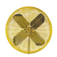 "TPI 24"" 1/2 HP 2-Speed Industrial Heavy Duty Yellow Air Circulator - HDH24"