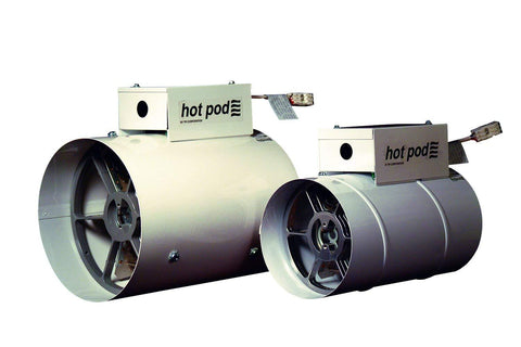 "TPI 8"" 1440/720W 120V Hotpod Supplemental Duct Mounted Heating System w/ UT8003 Thermostat and Cordset - HP814401202CT"