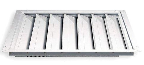 "TPI Joist Out Style Ceiling Shutter for 30"" Fan (34x34) - CS14W"