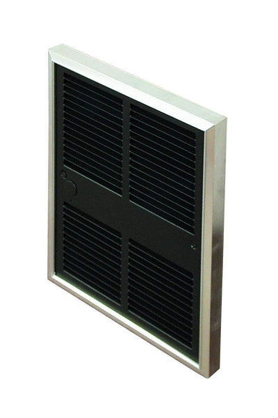 TPI 208V Multiple Wattage Midsized Commercial Fan Forced Wall Heater with Single Pole Thermostat - F30522TDWB