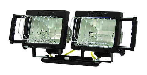 TPI Two Quartz Halogen Lightheads with Mounting Bracket - QH2
