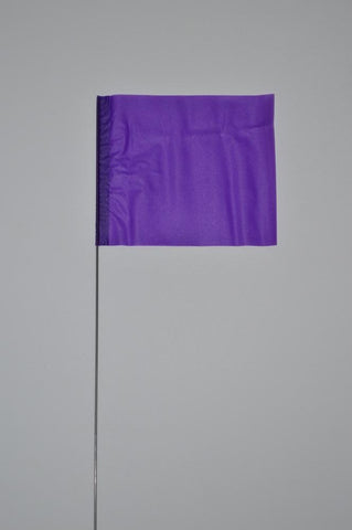 "Trinity Tape Marking Flags - Purple - 4"" x 5"" - 30"" wire - 4530PP"