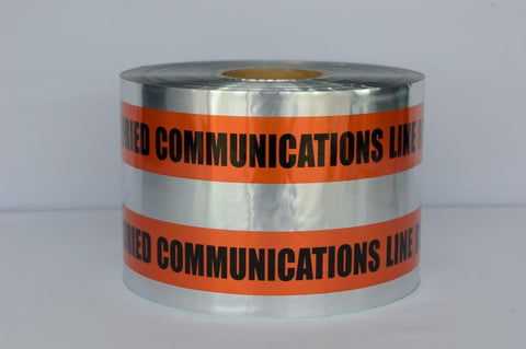 "Trinity Tape Detectable Tape - Caution Buried Communication Line Below - Orange - 5 Mil - 6"" X 1000' - D6105O49"