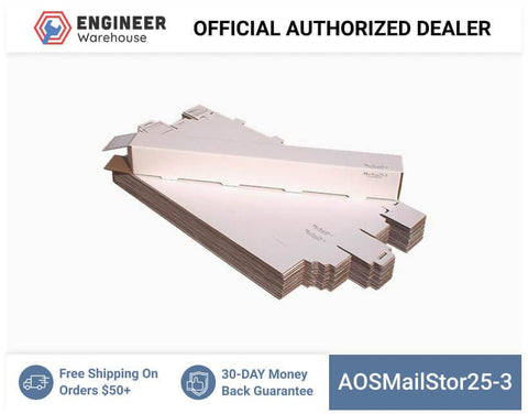 AOSMailStor25-3-3x3x25-Self-Locking-Mailer-and-Storage-Solution