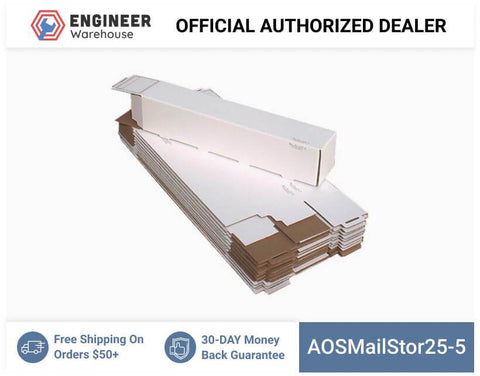 AOSMailStor25-5-5x5x25-Self-Locking-Mailer-and-Storage-Solution