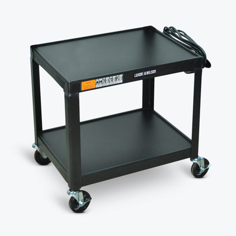 "Luxor Metal AV Cart 24""W x 18""D x 26""H (Black) - AV26"