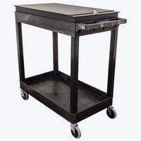 "Luxor EC11-B Cart w/ Locking Toolbox 32""W x 18""D x 34.25""H (Black) - EC11-B-TOOLBOX"