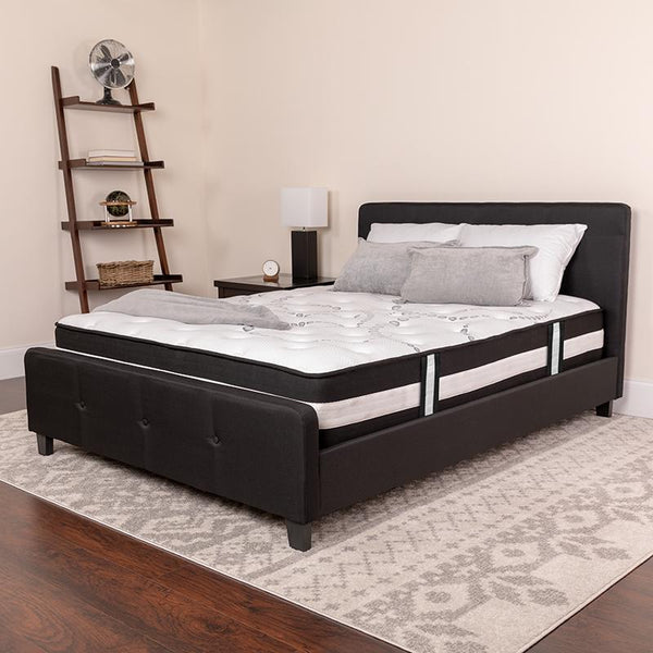 Flash Furniture Capri Comfortable Sleep 12 Inch Foam and Pocket Spring Mattress, King in a Box - CL-E230P-R-K-GG