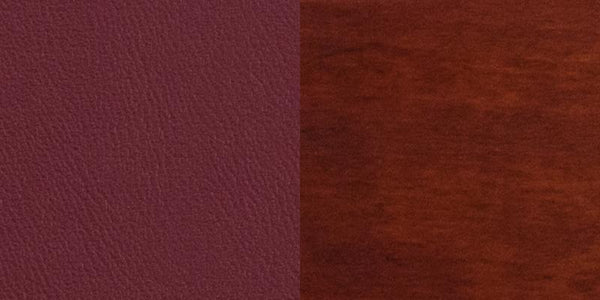 Flash Furniture Darby Series Slat Back Mahogany Wood Restaurant Chair - Burgundy Vinyl Seat - XU-DG-W0108-MAH-BURV-GG