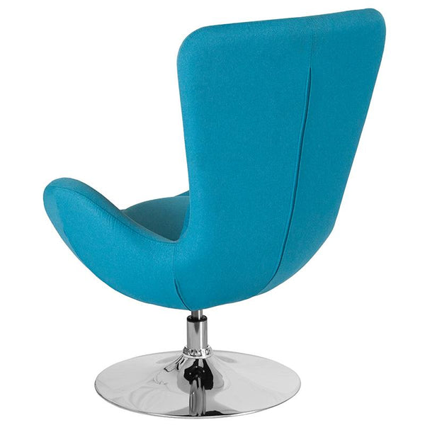 Flash Furniture Egg Series Aqua Fabric Side Reception Chair - CH-162430-AQ-FAB-GG