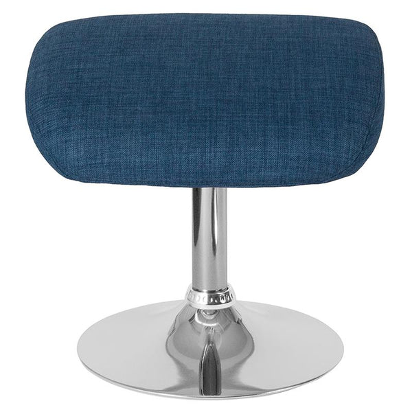 Flash Furniture Egg Series Blue Fabric Ottoman - CH-162430-O-BL-FAB-GG