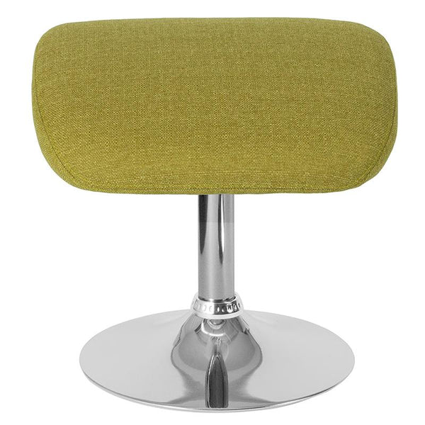 Flash Furniture Egg Series Green Fabric Ottoman - CH-162430-O-GN-FAB-GG