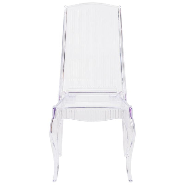 Flash Furniture Flash Elegance Crystal Ice Stacking Chair with Full Back Vertical Line Design - BH-K002-CRYSTAL-GG