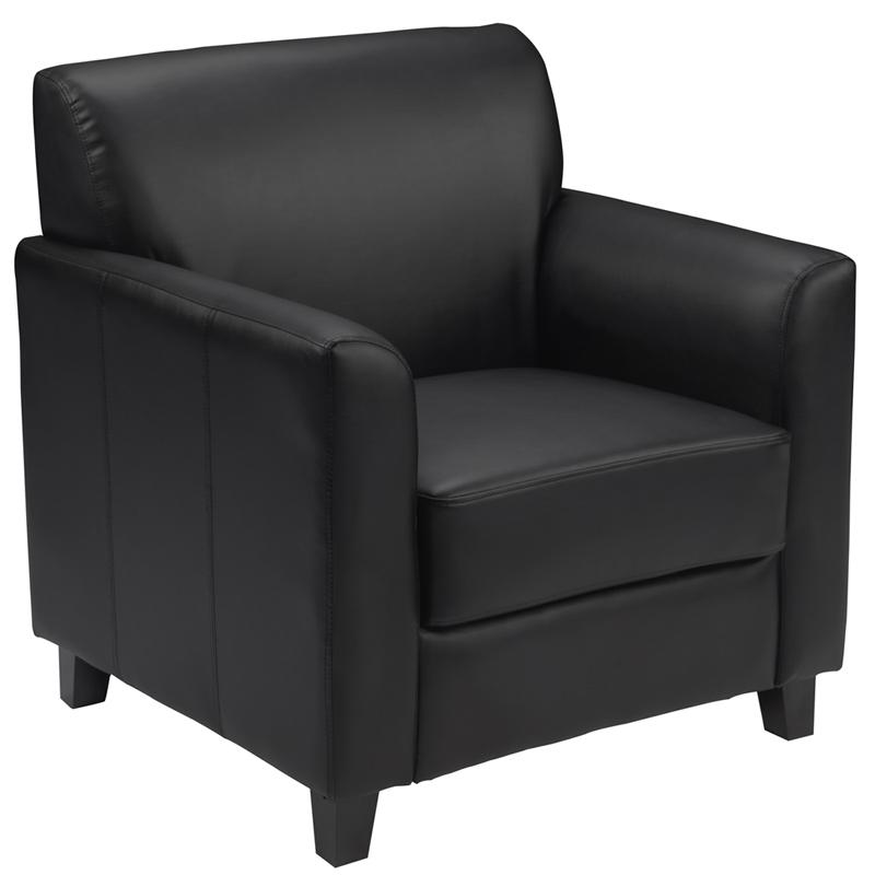 Flash Furniture HERCULES Diplomat Series Black Leather Chair - BT-827-1-BK-GG